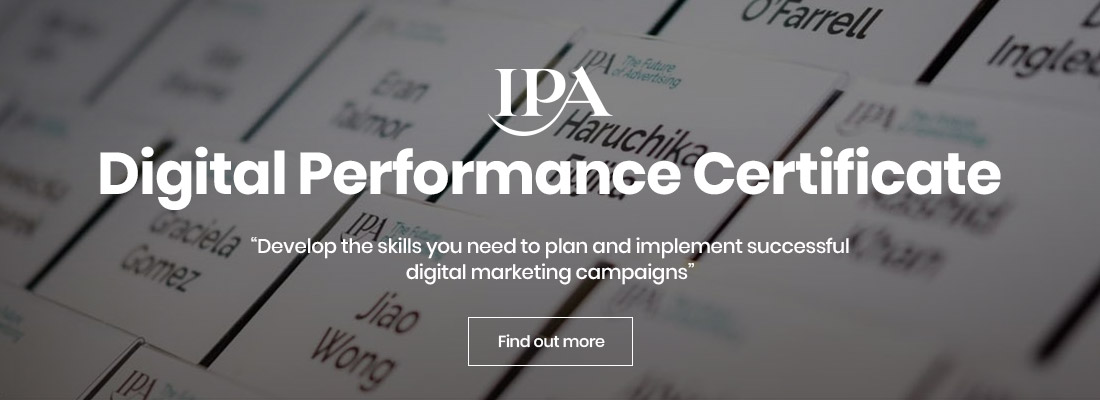 IPA Digital Performance Certificate