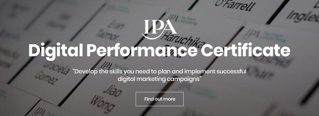 IPA Digital Performance Certificate