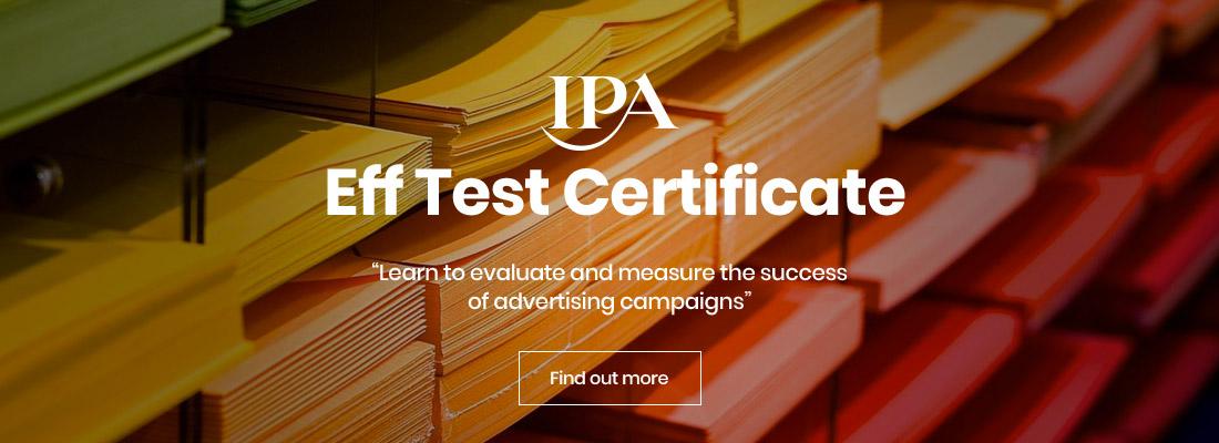 IPA Eff Test Certificate