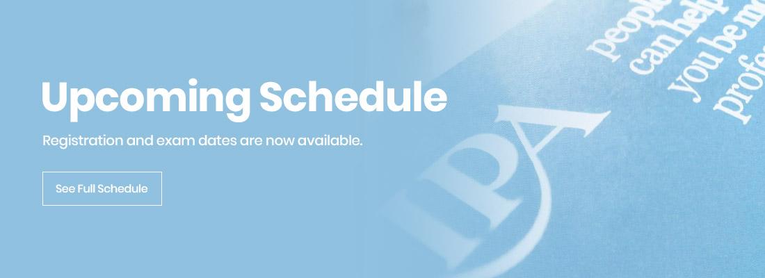 IPA Schedule